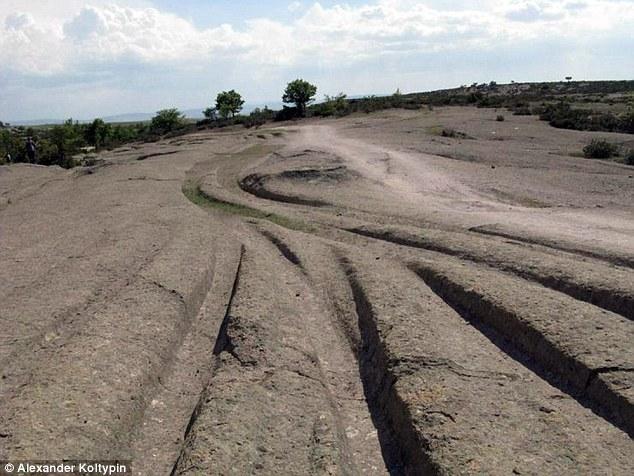 Huellas de vehículos de 14 millones de años