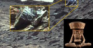 Antigua civilización en Marte ¿Imágenes de la NASA muestran estatuas?