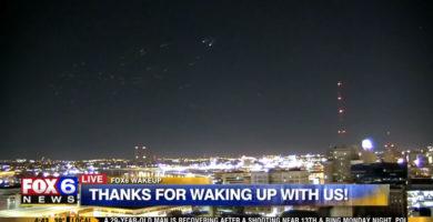 Aparecieron docenas de OVNIs en la transmisión de Fox News