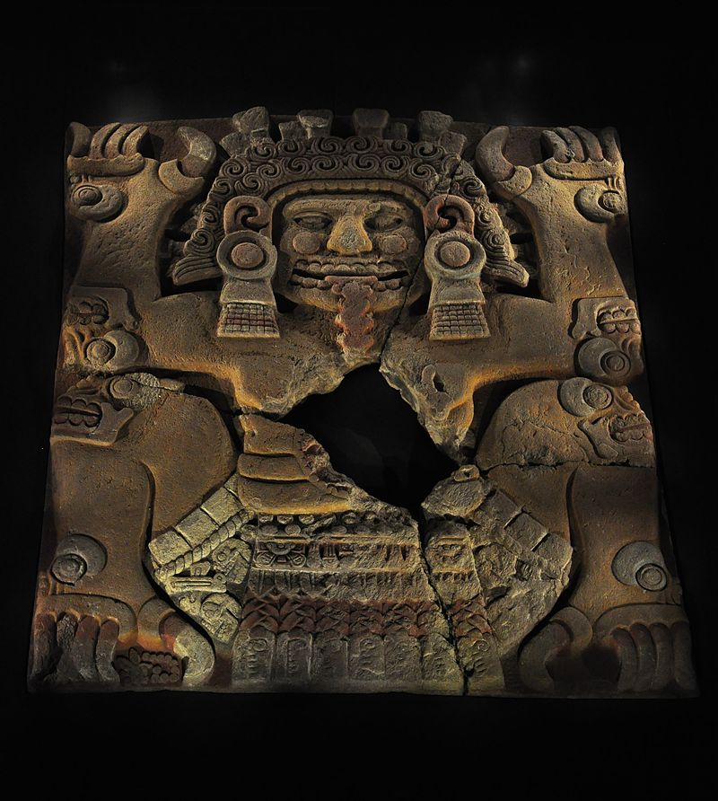 Tlaltecuhtli escultura Templo Mayor