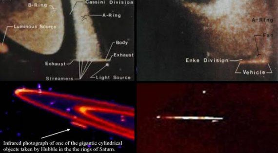 Nave extraterrestre en Saturno