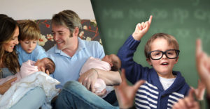 Estudio científico: El primer hijo es más inteligente que sus hermanos