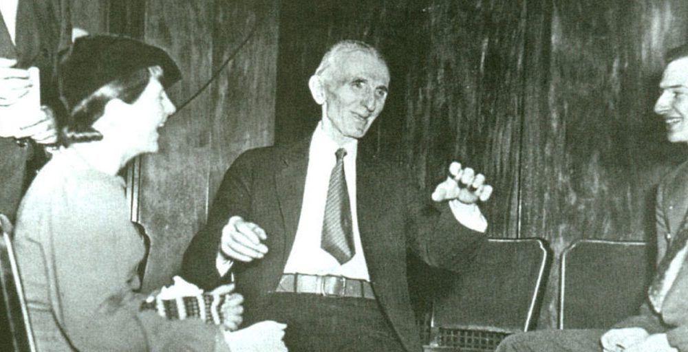Nikola Tesla en su vejez