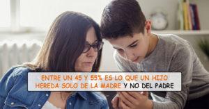 Los niños heredan su inteligencia de la madre y no de su padre