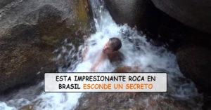 Una roca que traga a turistas enteros que nadan en Brasil