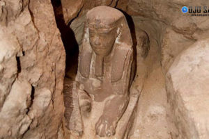 Arqueólogos descubren una nueva esfinge enterrada en Egipto